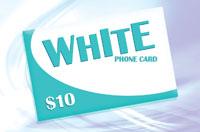 White Phone Card $10