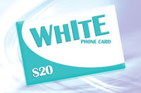 White Phone Card $20