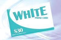 White Phone Card $30